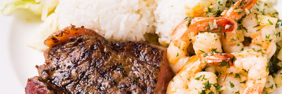Half Steak & Shrimp Combo